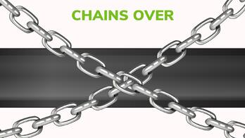 Towing chains crossed over